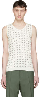 Marni White and Brown Squares Tank Top