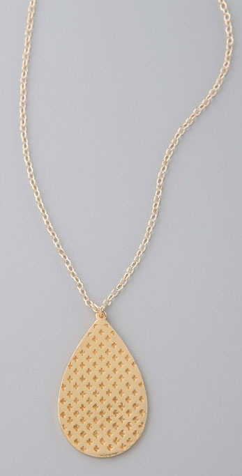 Gorjana Oxford Teardrop Necklace