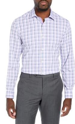 W.R.K Trim Fit 4-Way Stretch Plaid Dress Shirt