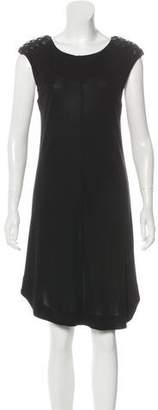 Elizabeth and James Embellished Knee-Length Dress