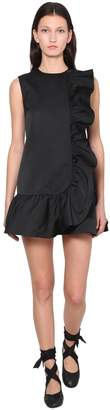 RED Valentino RUFFLED DUCHESSE MINI DRESS