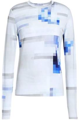 Paco Rabanne Printed Stretch-Jersey Top