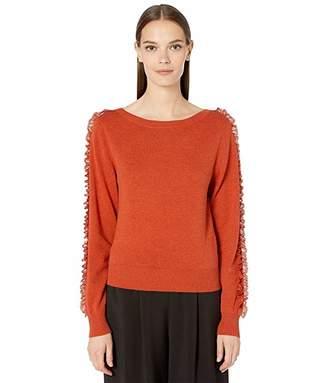 05420cc1 Lace Bottom Sweater - ShopStyle