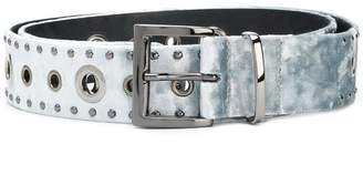 Schumacher Dorothee silver studded mid-width belt