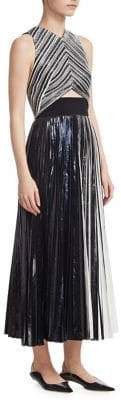 Proenza Schouler Pleated Cut-Out Dress