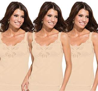 Under Moments Women's Antistatic Elegant Camisole w/Lace Accents (Pack of 3)