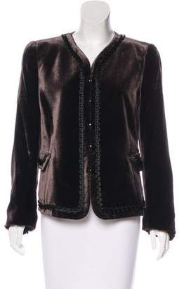 Armani Collezioni Velvet Embellished Jacket