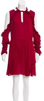 IRO Ruffle-Accented Mini Dress