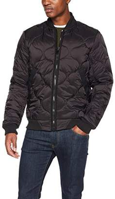 G Star Men's Liner Meefic Padded Bomber Overshirt Jacket, (Black 990)