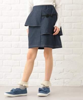 Kumikyoku (組曲) - 組曲KIDS 【110~170cm】アシンメトリーラッフルキュロット スカート