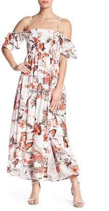 Anama Cold Shoulder Floral Maxi Dress