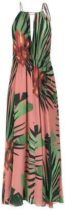 OSKLEN tropical print maxi dress
