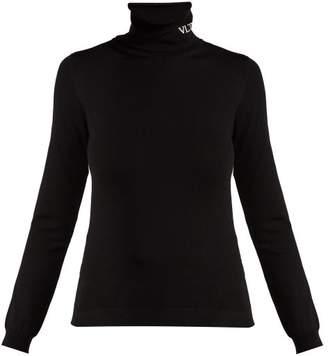 Valentino Vltn Roll Neck Top - Womens - Black