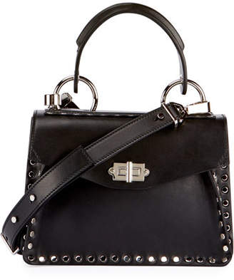 Proenza Schouler Hava Small Studded Top-Handle Bag, Black