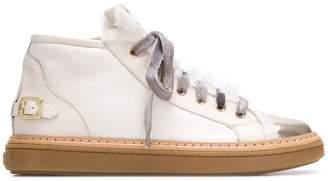AGL faux fur trim hi-top sneakers