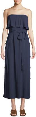 Vix Glenda Strapless Tie-Front Long Coverup Dress