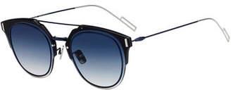 Christian Dior Men's Round Universal-Fit Graphic Sunglasses