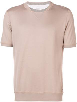 Eleventy two-tone collar T-shirt