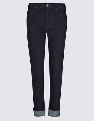 Marks and Spencer Turn-up Mid Rise Relaxed Slim Jeans