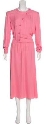 Nina Ricci Crepe A-Line Dress w/ Tags