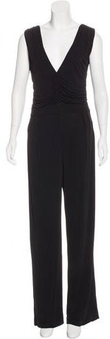 Fendi V-Neck Wide-Leg Jumpsuit