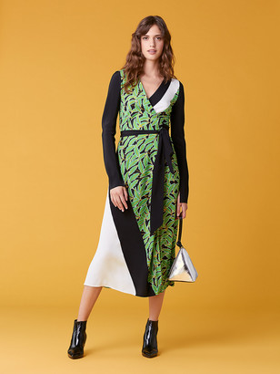 Diane von Furstenberg Maureen Silk Jersey Wrap Dress