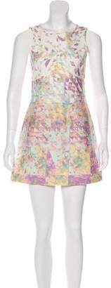 Tibi Denim Printed Dress