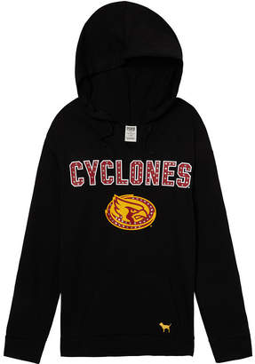 PINK Iowa State University Bling Campus Split Neck Pullover