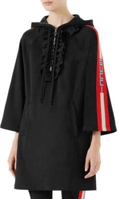 Gucci Flare-Sleeve Jersey Hoodie