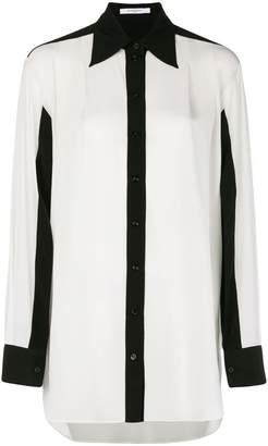 Givenchy contrast trim blouse