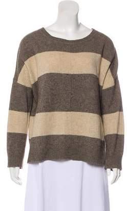 Vince Striped Wool-Yak Sweater