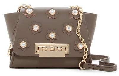 ZAC Zac Posen Eartha Iconic Chain Floral Mini Leather Crossbody Bag