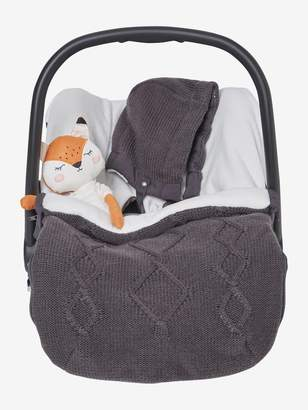 Vertbaudet Knitted Footmuff with Polar Fleece Lining, for Car Seat