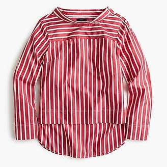 J.Crew Petite funnelneck striped shirt
