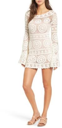 Women's Majorelle Harvest Crochet Minidress $268 thestylecure.com