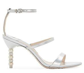 Sophia Webster Women's Rosalind Strappy Crystal & Faux-Pearl Heel Sandals