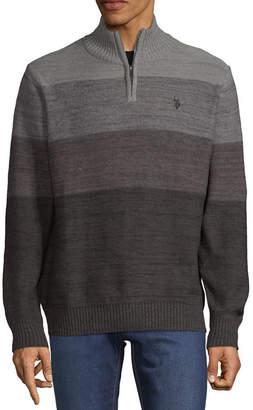 U.S. Polo Assn. USPA Mock Neck Long Sleeve Pullover Sweater