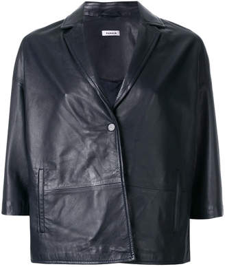 P.A.R.O.S.H. cropped leather jacket