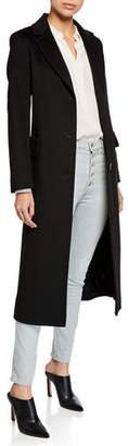 Fleurette Wool Three-Button Maxi Coat