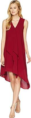 Adrianna Papell Women's Asymmetrical Front Drape Dress