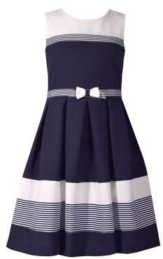Iris & Ivy Little Girl's Nautical Colorblock Dress
