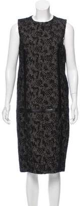 Bottega Veneta Leather-Trimmed Sheath Dress w/ Tags