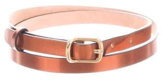 Chloé Metallic Leather Hip Belt