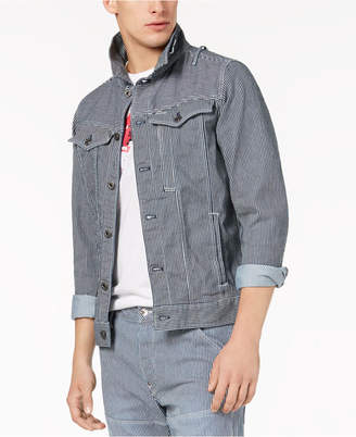 G Star Men's Striped Stretch Denim Jacket, Created for Macy's