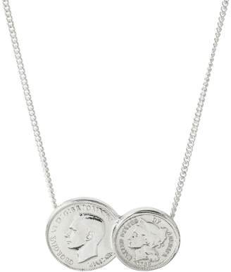 Katie Mullally American / English Double Coin Necklace