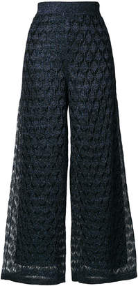 Missoni pattern design flared trousers