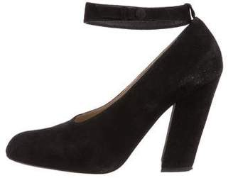 Chloé Semi Pointed-Toe Suede Pumps