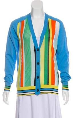 Diane von Furstenberg Striped Long Sleeve Cardigan