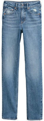 H&M Straight High Jeans - Blue