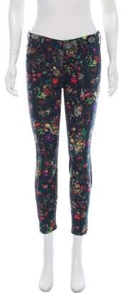 Mother Printed Skinny Jeans